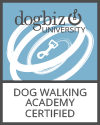 Dogbiz certified Dog Walker